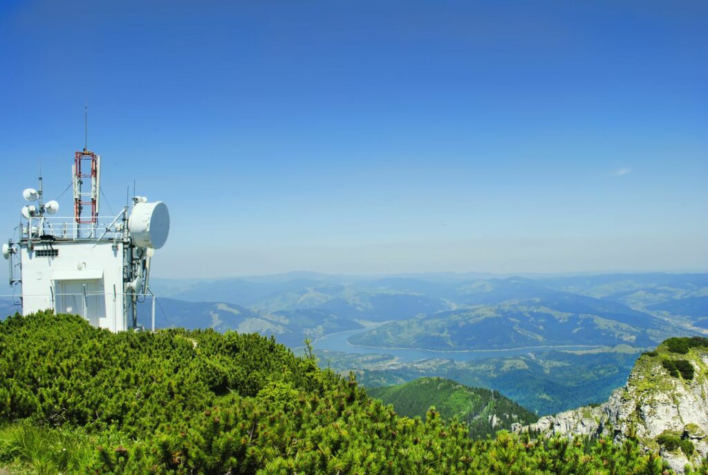 weather station on top of a mountain